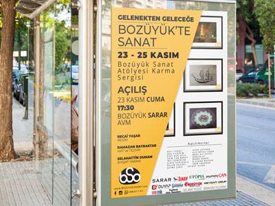 sanat sergisi reklam afişi